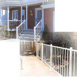 aluminum vinyl railings