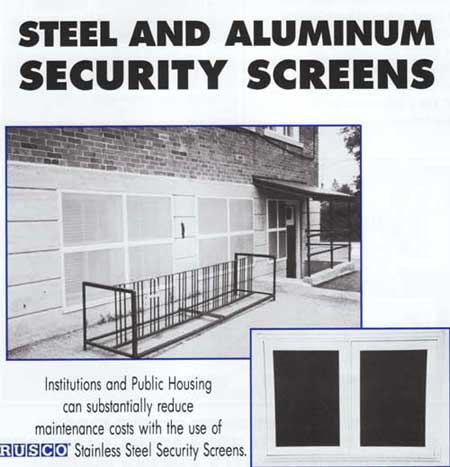 Steel and Aluminum Security Screens