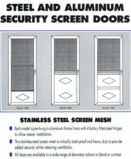 Steel and Aluminum Security Steel Doors
