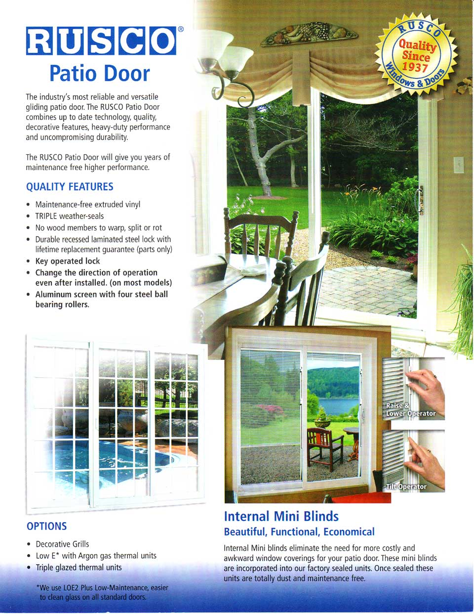 Rusco patio door